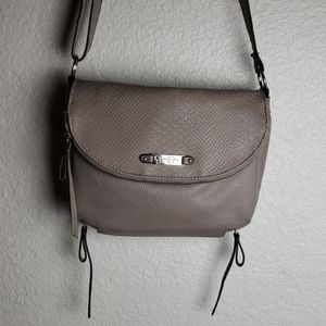 Jessica Simpson croc crossbody purse, zippers